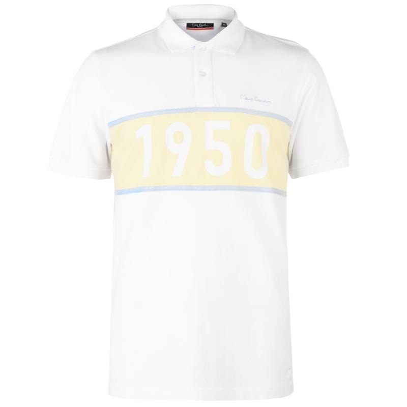 Pierre Cardin 1950 Polo Shirt Mens White