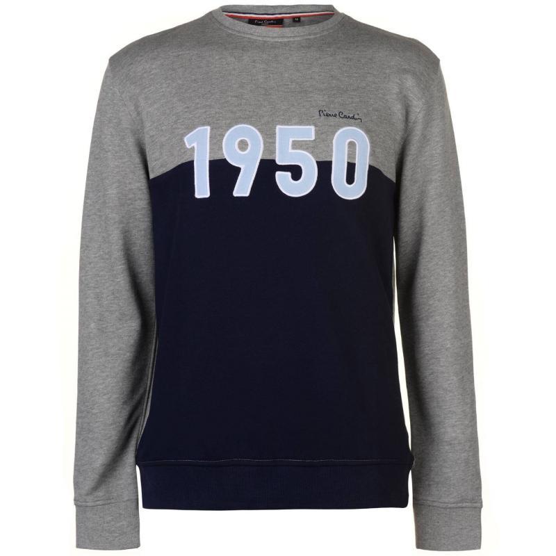 Mikina Pierre Cardin 1950 Sweater Mens Grey M/Navy