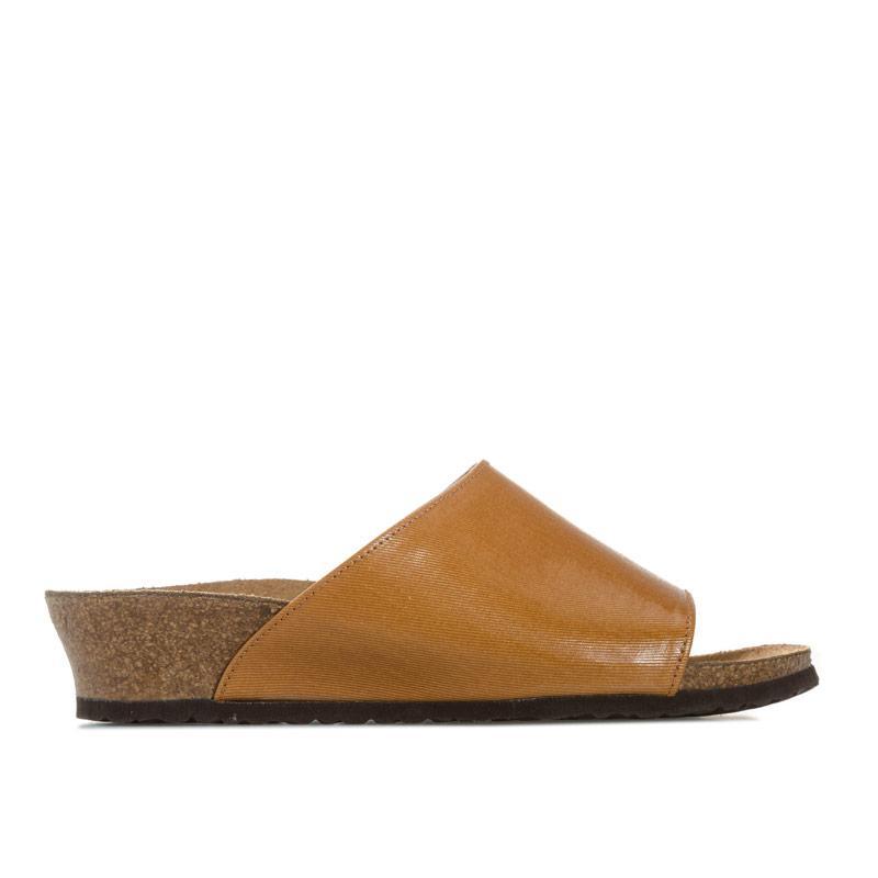 Papillio Womens Amber Wedge Sandals Narrow Width Tan