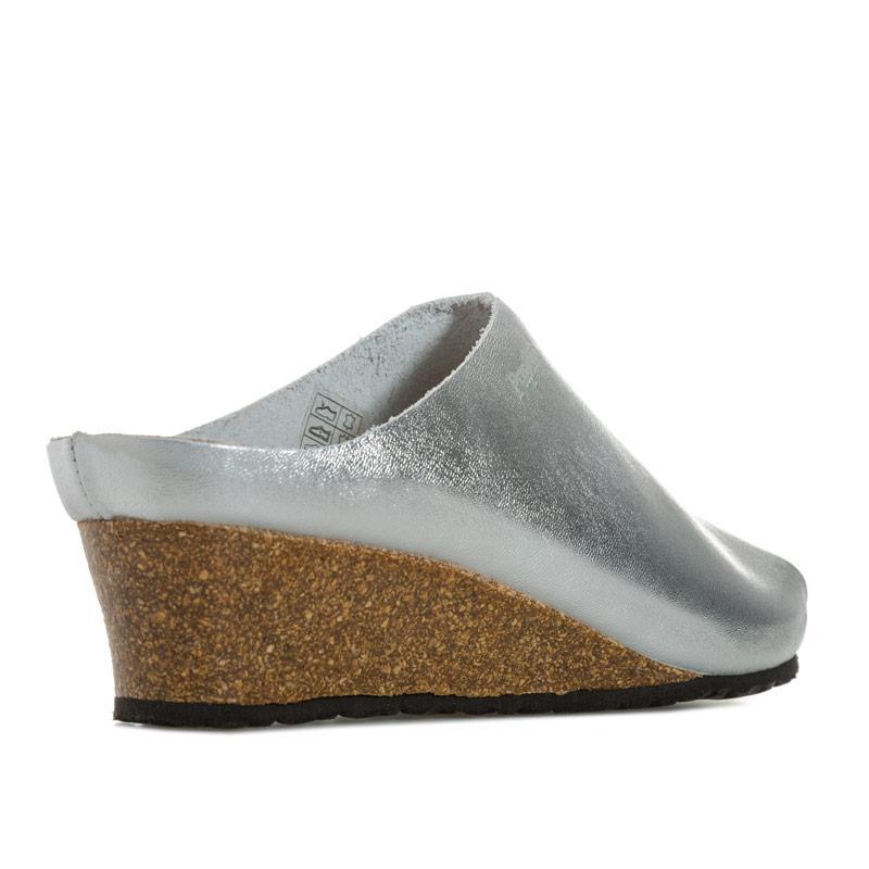Papillio Womens Debby Wedge Sandals Narrow Width Silver