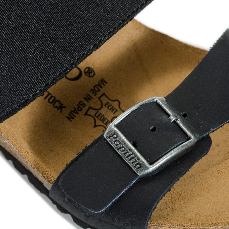 Papillio Womens Della Wedge Sandals Narrow Width Black