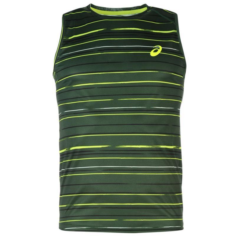 Asics Athlete Short Sleeve Oak Green Strip