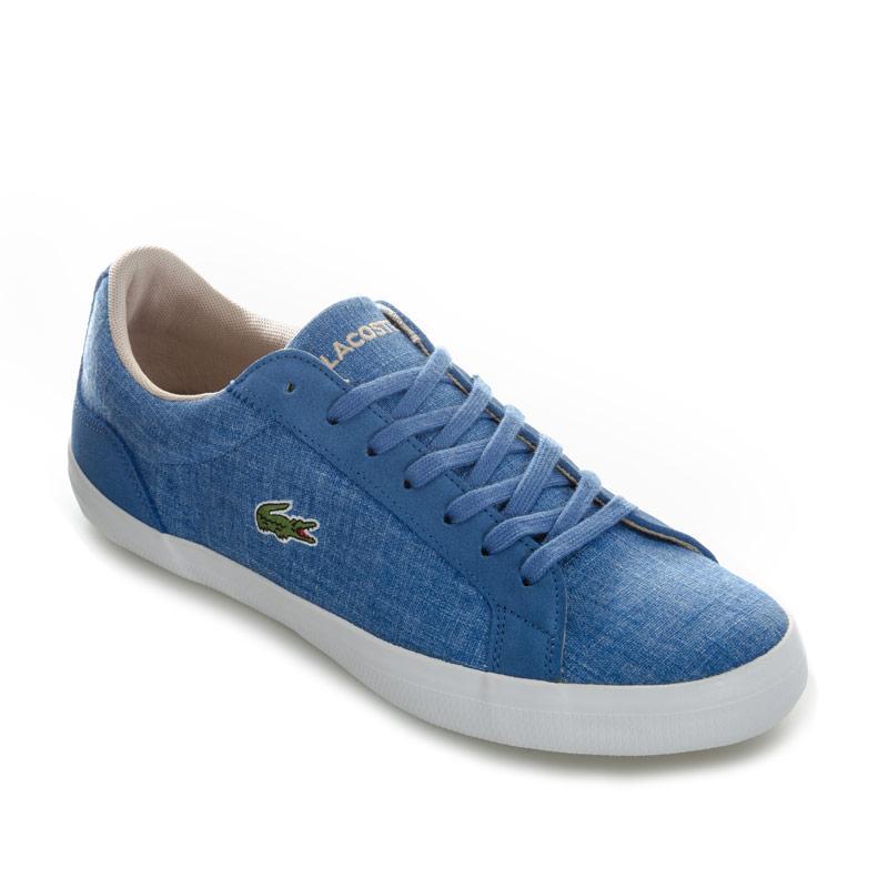 Lacoste Mens Lerond 217 1 CAM Trainers Blue