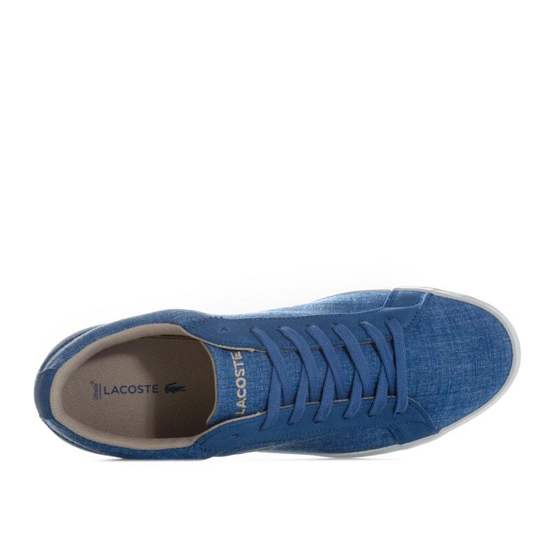 Lacoste Mens Lerond 217 1 CAM Trainers Blue Velikost - UK10 (euro 44)