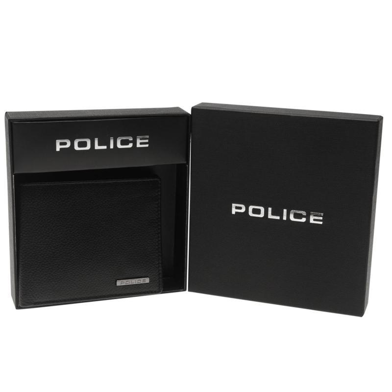 Police Drum ID Wallet Black