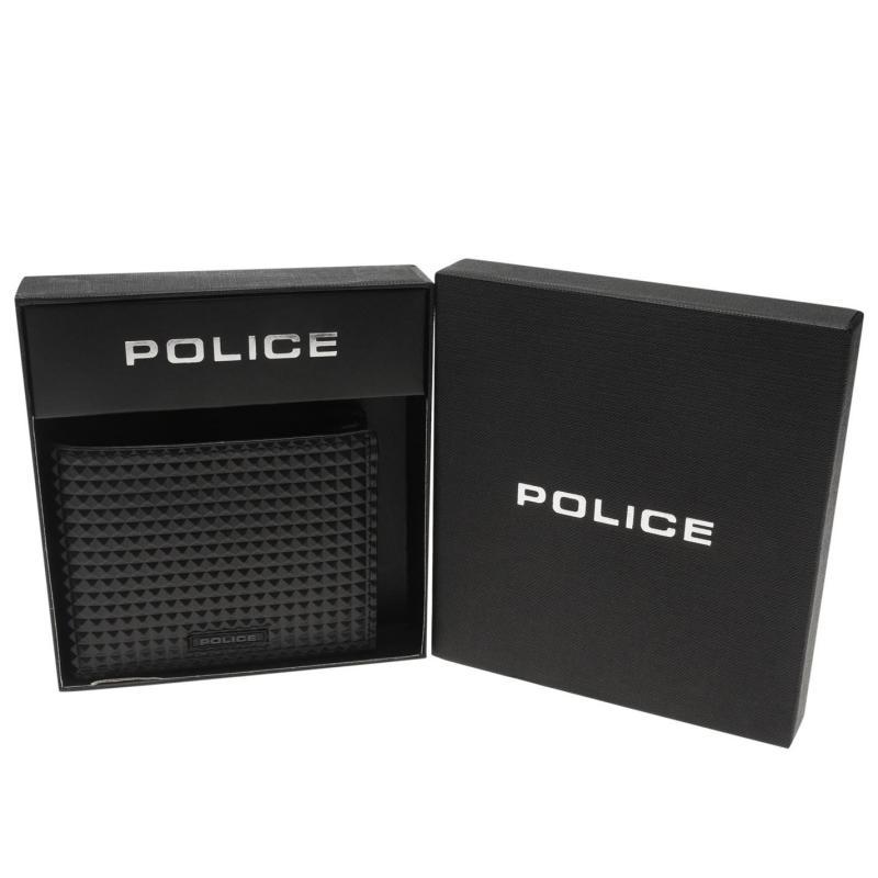 Police Pyramid Slim Wallet Black