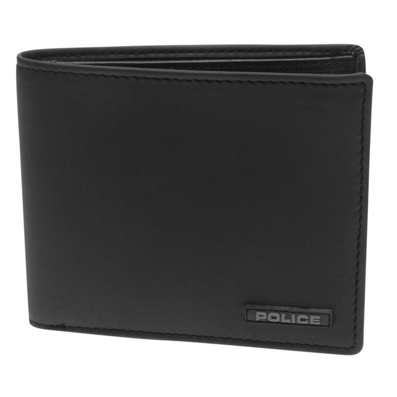 Police Thunder Ball Slim Wallet Black