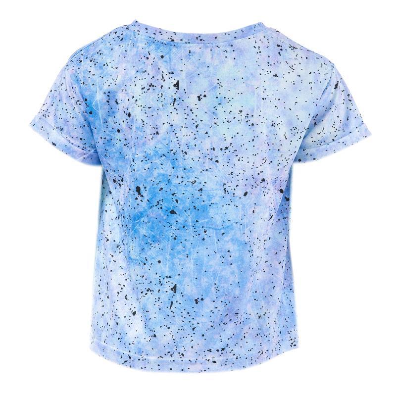Beck And Hersey Junior Girls Speckle T-Shirt Blue