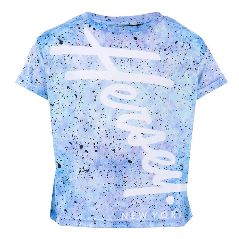 Beck And Hersey Junior Girls Speckle T-Shirt Blue
