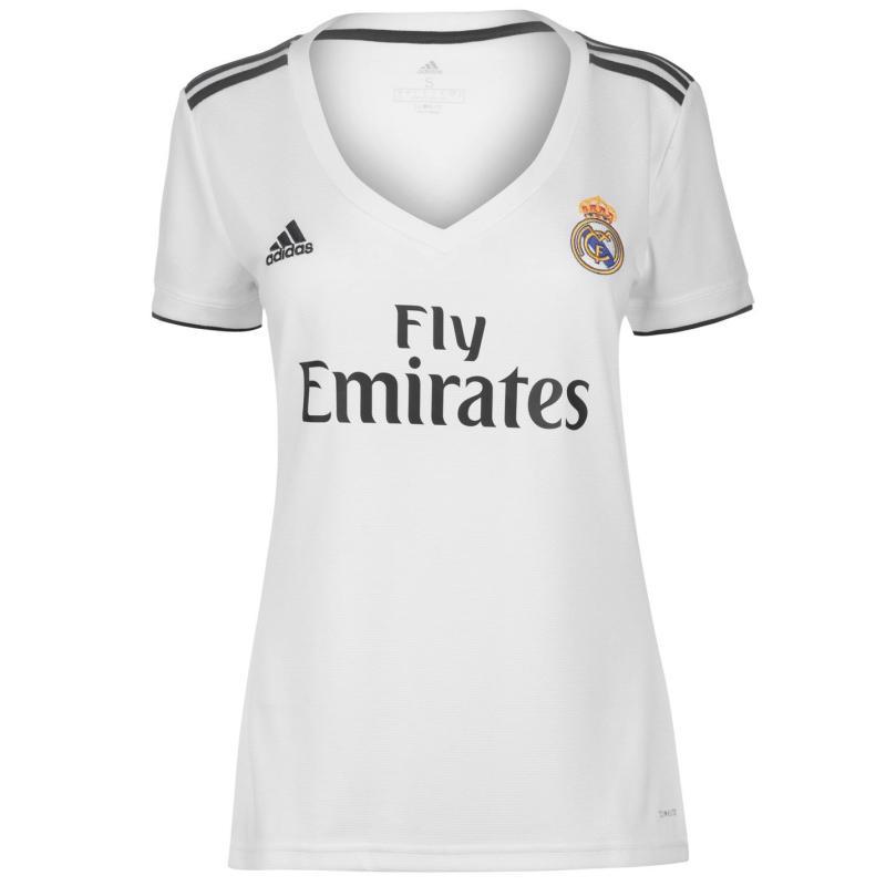 Adidas Real Madrid Home Shirt 2018-2019 Ladies White/Black