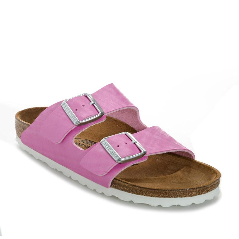 Boty Birkenstock Womens Arizona Sandals Narrow Width Rose