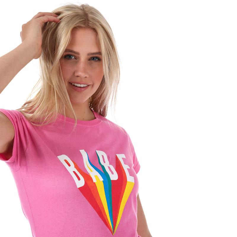 Daisy Street Womens Babe T-Shirt Pink