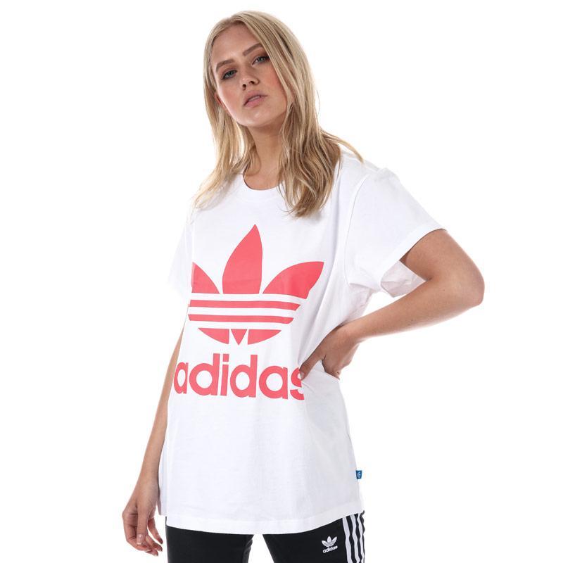 Adidas Originals Womens Big Trefoil T-Shirt White