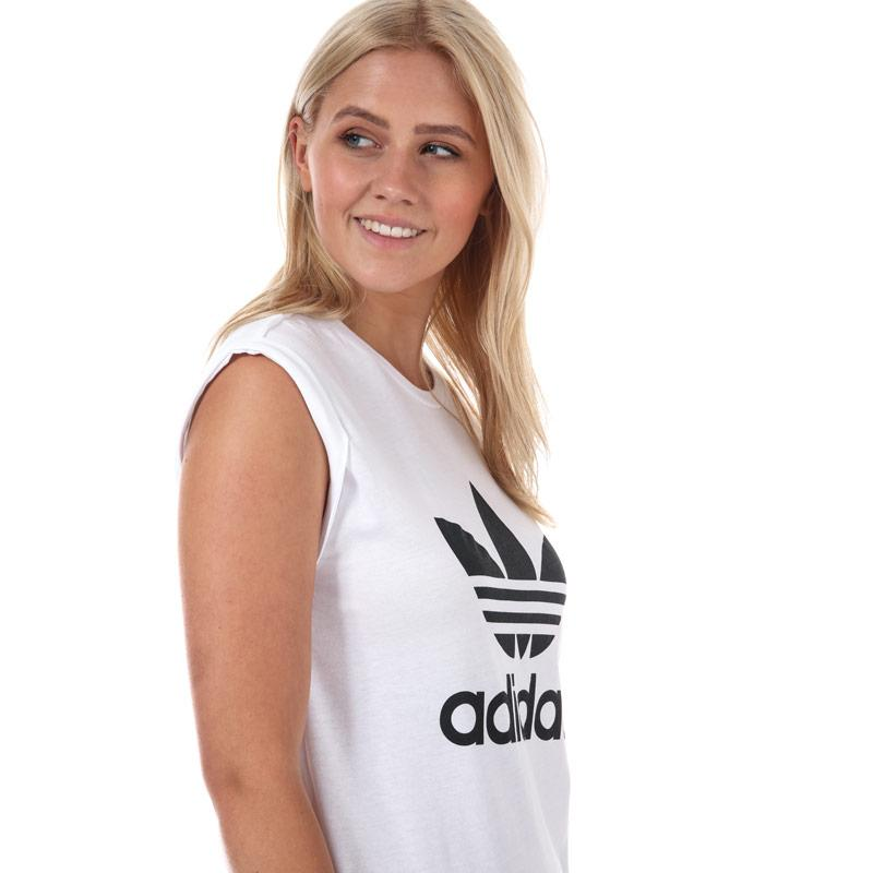 Adidas Originals Womens Boyfriend Trefoil T-Shirt White