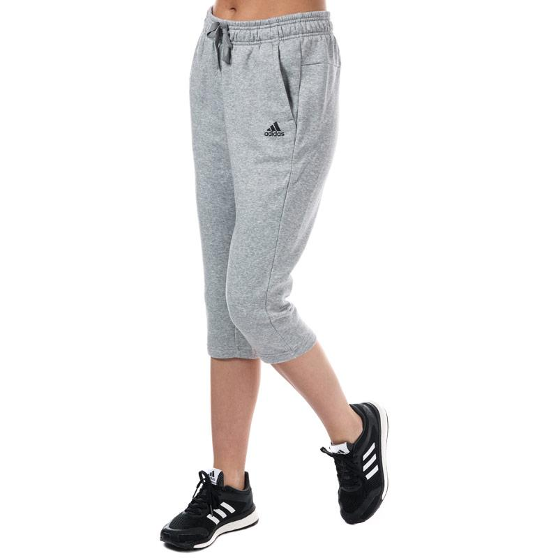 Adidas Womens Essentials Solid 3 Quarter Pants Grey Marl