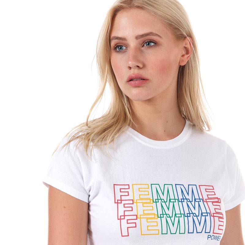 Daisy Street Womens Femme T-Shirt White