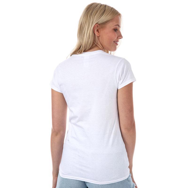 Daisy Street Womens Fleur Rebelle T-Shirt White