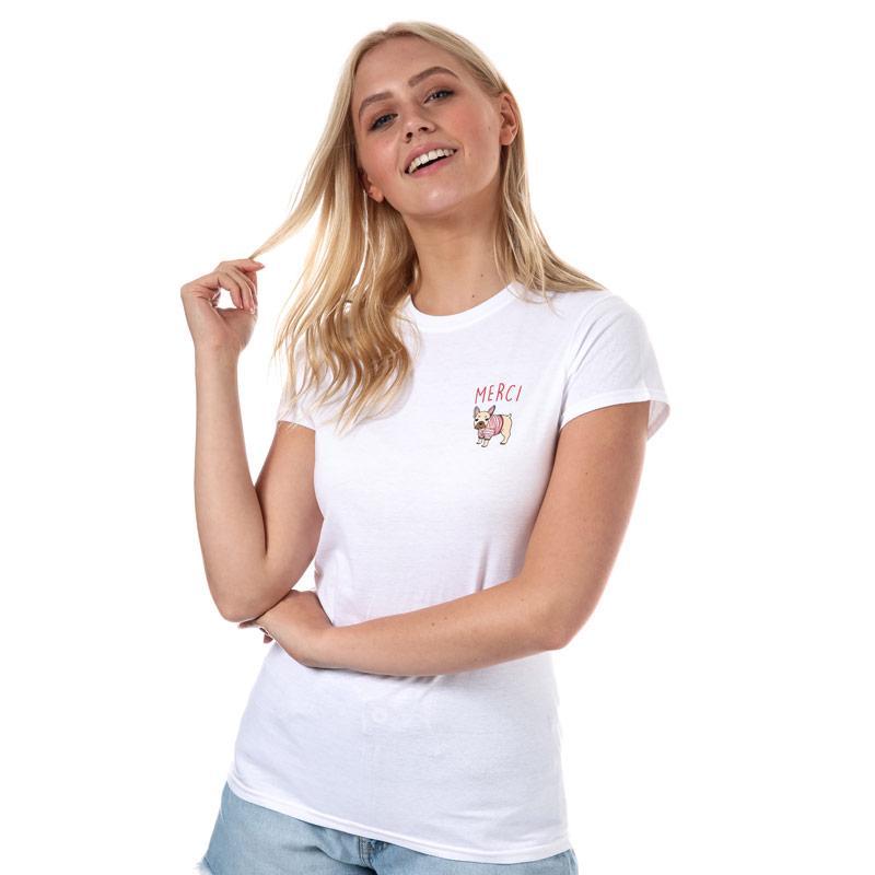 Daisy Street Womens Merci T-Shirt White
