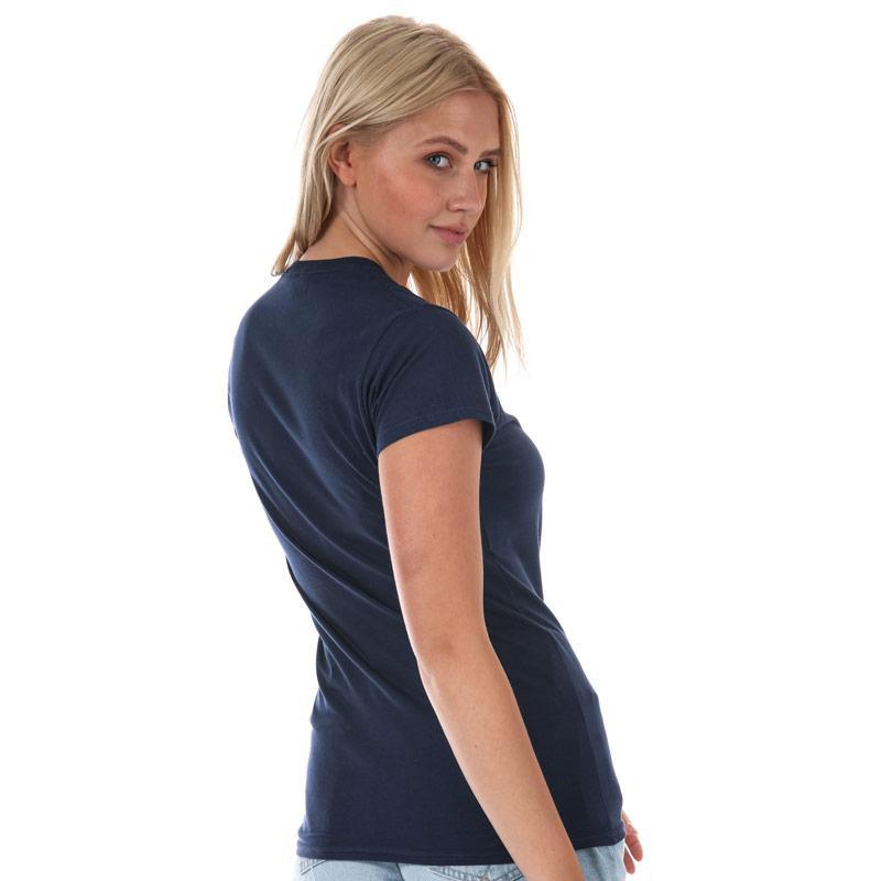 Daisy Street Womens Rainbow T-Shirt Navy