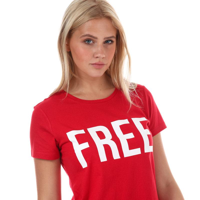 Only Womens Riva T-Shirt Red