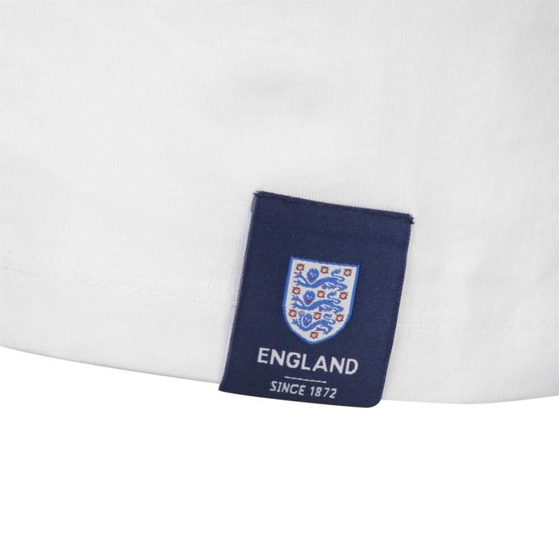 Tričko FA England Crest Long Sleeve T Shirt Mens White