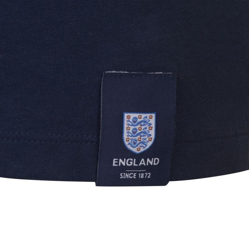 Tričko FA England Large Crest T Shirt Mens Navy