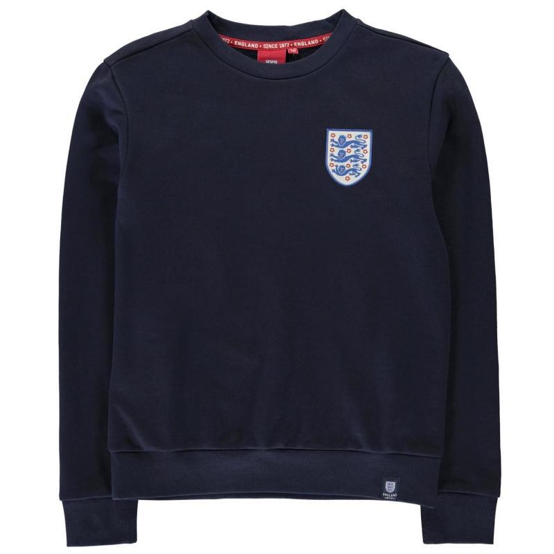 FA England Small Crest Sweatshirt Junior Navy