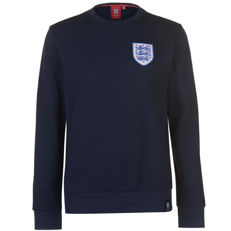 Mikina FA England Small Crest Sweatshirt Mens Navy