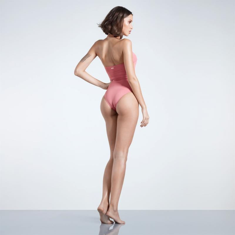 Plavky Firetrap Blackseal Cross Front Swimsuit Pink Blush