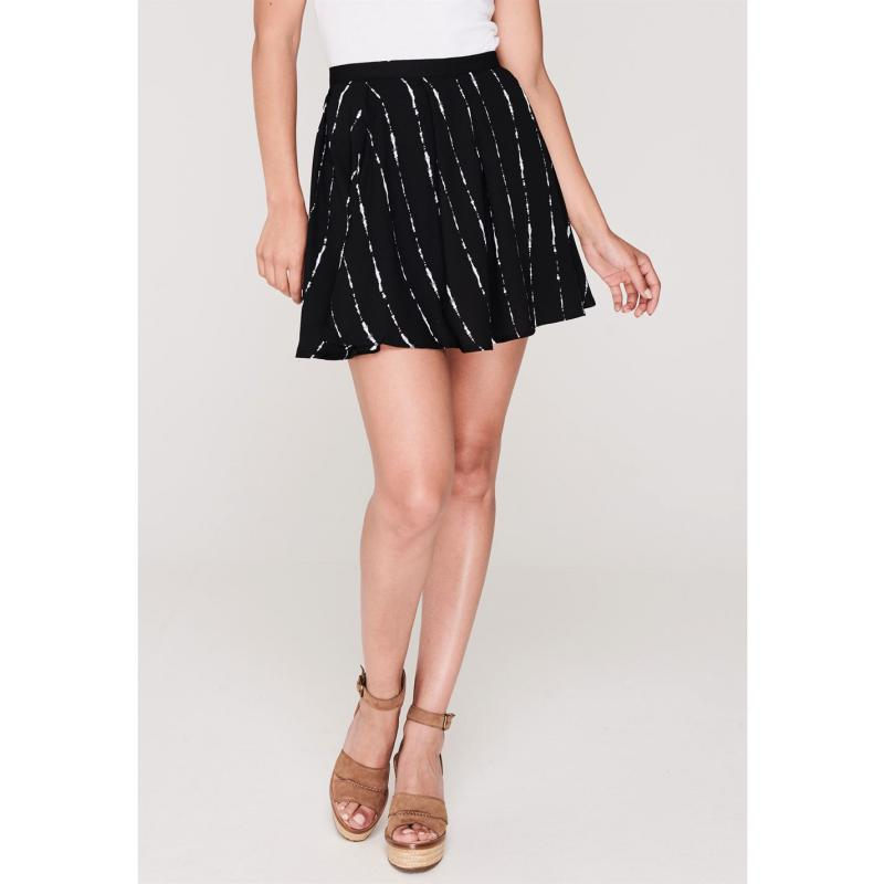 Sukně Firetrap Blackseal Stripe Skirt Black Stripe