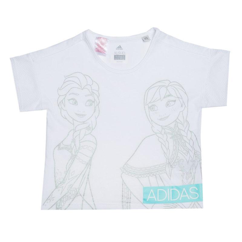 Adidas Performance Infant Girls Frozen Boxy T-Shirt White