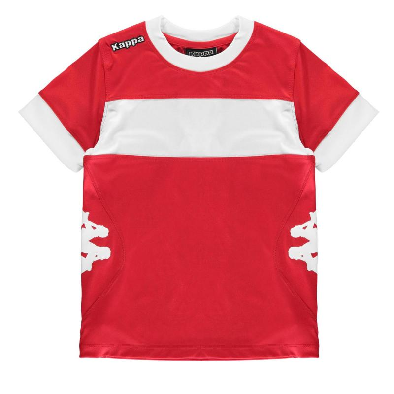 Tričko Kappa Remilio Short Sleeve T Shirt Junior Boys Red/White