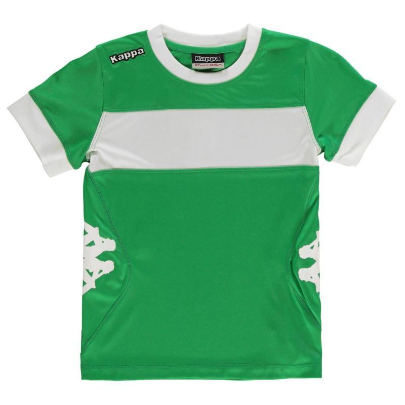 Tričko Kappa Remilio Short Sleeve T Shirt Junior Boys Yellow/Navy
