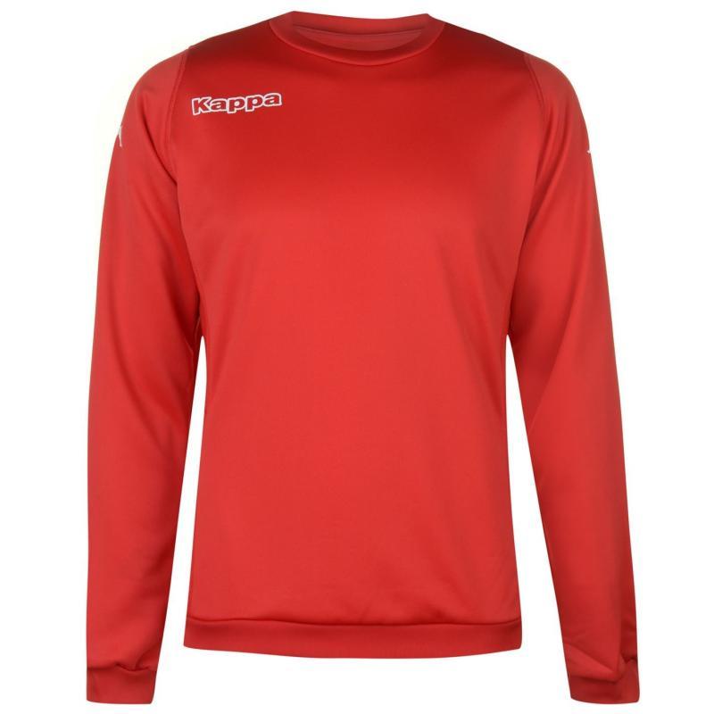 Kappa Round Neck Sweatshirt Mens Red/White