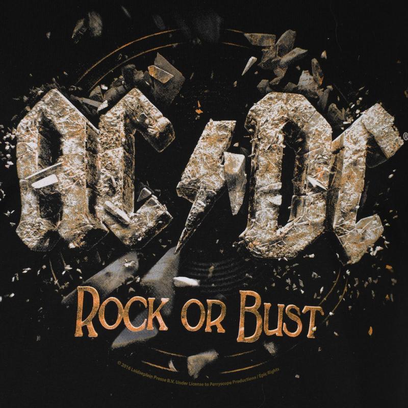 Tričko Official ACDC Mens T Shirt Rock or Bust