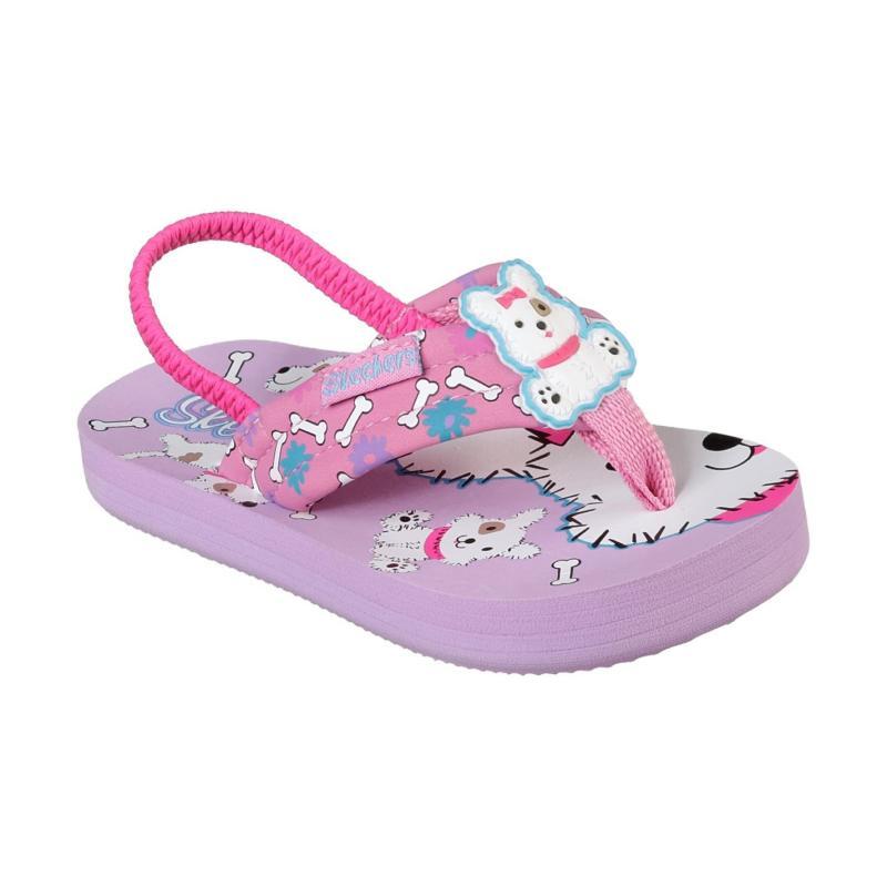 Skechers Waterlilly Flip Flops Infant Girls Pink/Multi