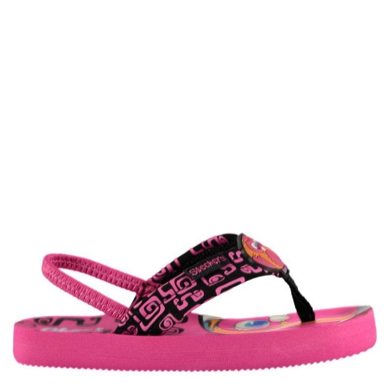 Skechers Waterlilly Flip Flops Infant Girls Black/Pink