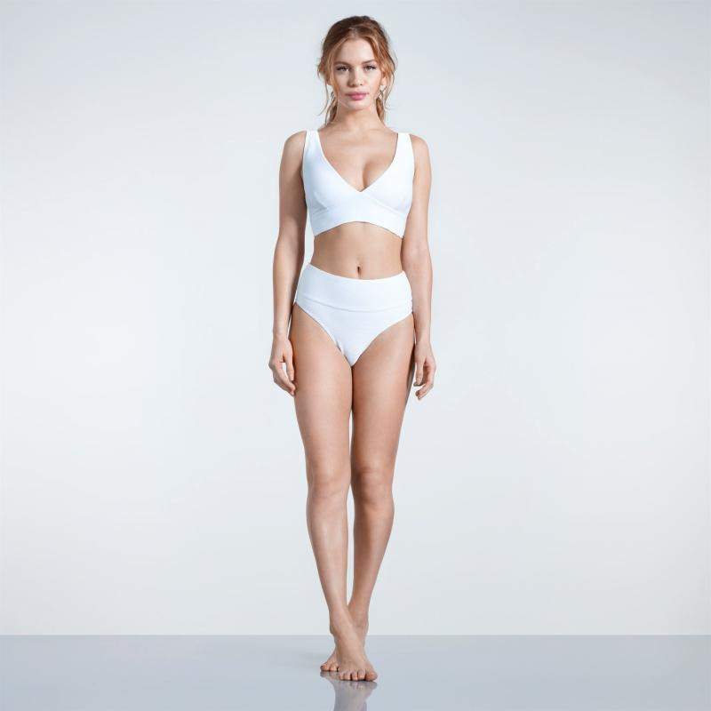 Plavky USA Pro Textured Bikini Bottoms Ladies White