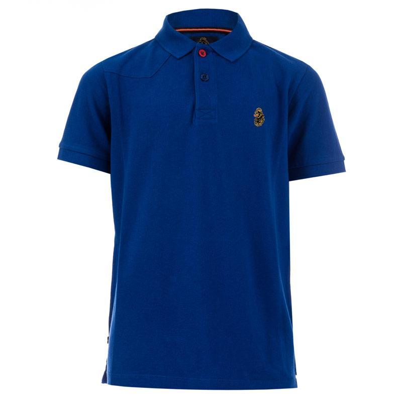 Tričko Luke 1977 Junior Boys Robbie Polo Shirt Blue