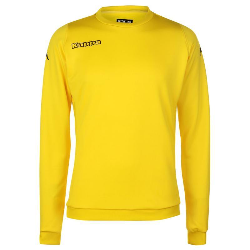 Kappa Round Neck Sweatshirt Mens Yellow/Black