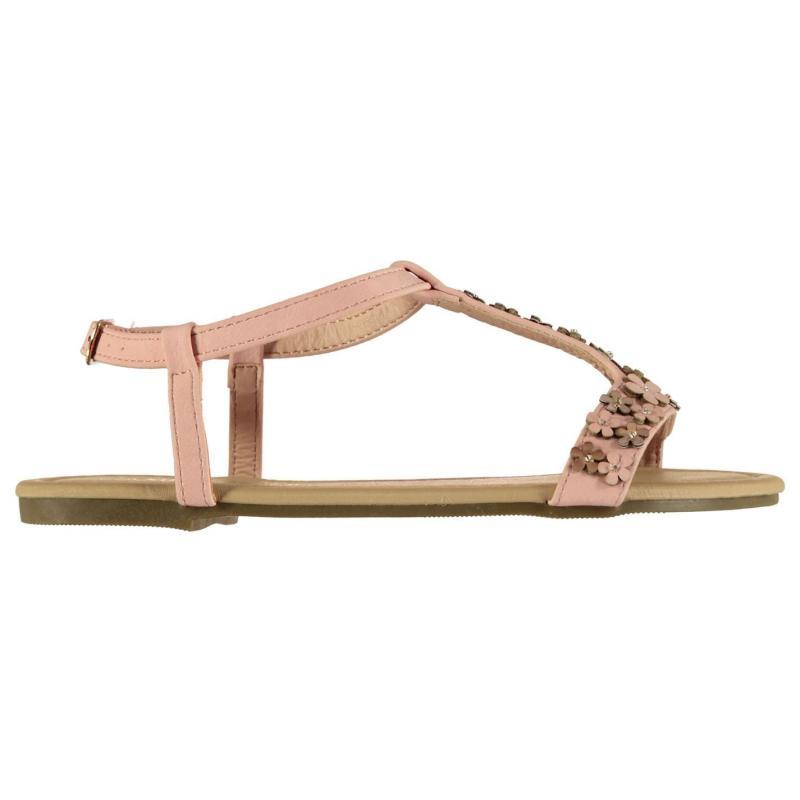SoulCal Flower T Bar Child Girls Sandals Pink