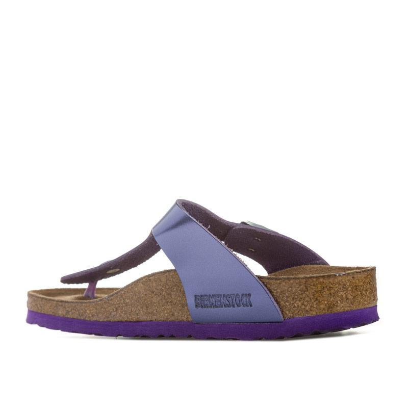 Boty Birkenstock Womens Gizeh Soft Footbed Sandals Narrow Width Purple