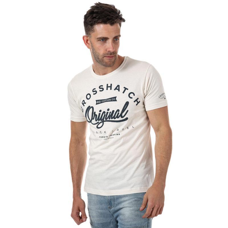 Tričko Crosshatch Mens Freemans T-Shirt Off White