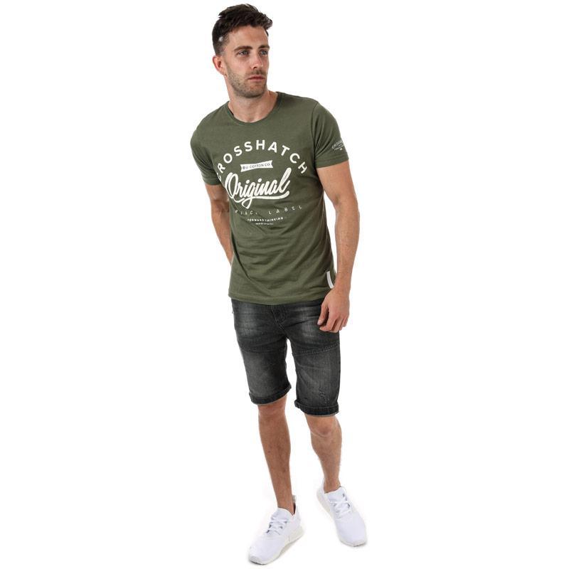 Tričko Crosshatch Mens Freemans T-Shirt Khaki