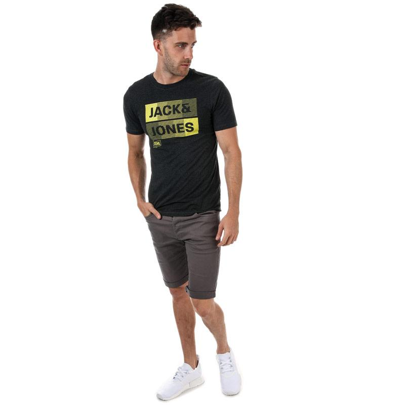 Tričko Jack Jones Mens Mase T-Shirt Charcoal