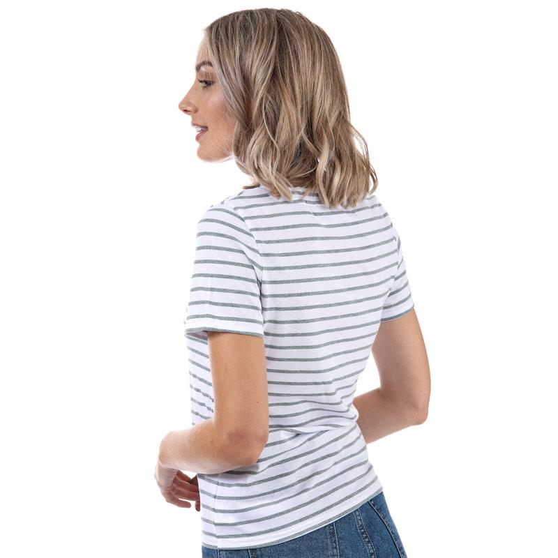 Glamorous Womens Avocado Stripe T-Shirt Grey