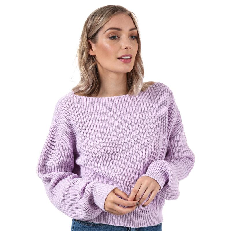Svetr Glamorous Womens Cropped Jumper Lilac
