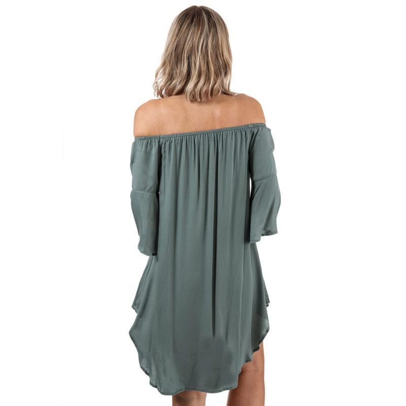Šaty Glamorous Womens Off The Shoulder Dress Khaki