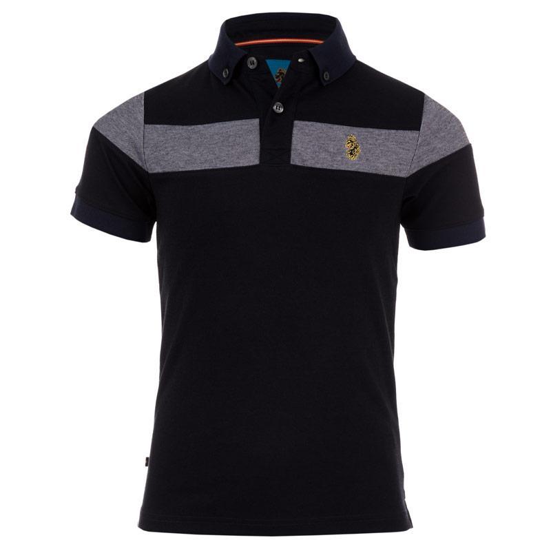 Tričko Luke 1977 Infant Boys Sharkey Polo Shirt black blue