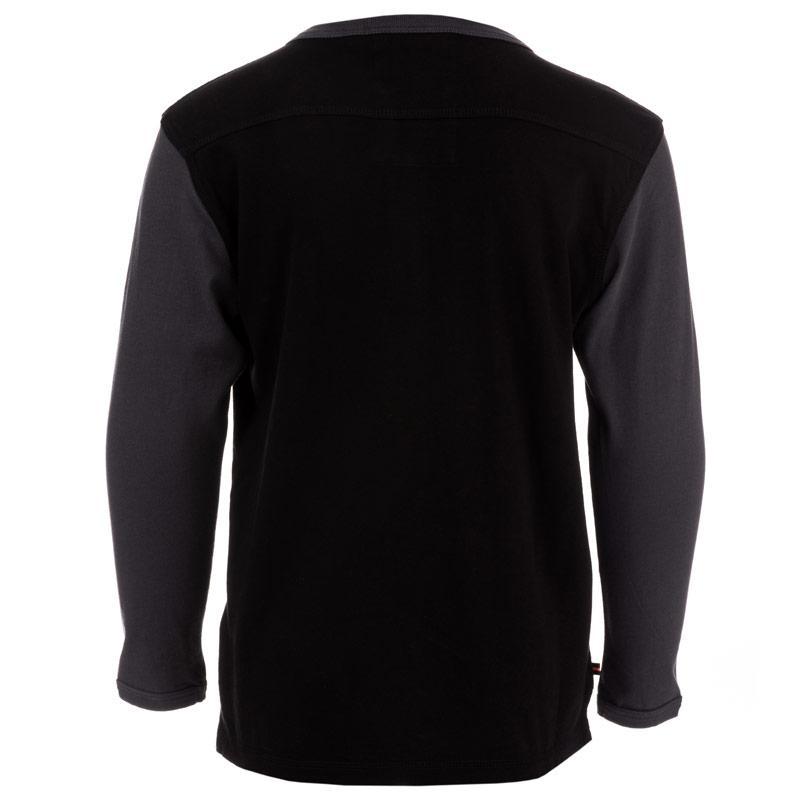 Tričko Luke 1977 Junior Boys Glover 2 Long Sleeve T-Shirt Black Grey